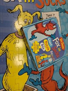 Dr Seuss Fox in Socks Giant Jigsaw Puzzle Box 48 Piece Floor Puzzle Age 4+