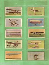 #D144. SCARCE SET OF 1927  FAMOUS AIRCRAFT CARDS, CHAMPION MAGAZINE