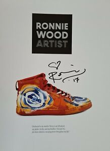 Ronnie Wood 'Artist' hand signed edition by Ronnie, large hard back book. NEW (2