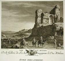 """Bartholomeus Breenbergh """" the Ruinnes """" Engraving Varin Ed Lying 1786"""