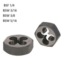 BSF 1/4 Hex Rethread Die BSW 3/16 BSW 3/8 HSS Hexagon Taper Pipe Die Rethreading