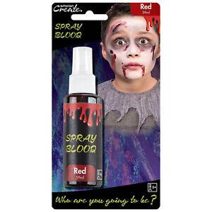 Halloween Zombie Vampire Fancy Dress Wound Red Fake Blood 59ml Spray Bottle