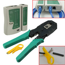 RJ45 RJ11 RJ12 CAT5 LAN Network Tool Kit Cable Tester Crimp Crimper Plier Set