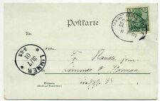 33-2m Bahnpoststempel MAGDEBURG-THALE ZUG 355 auf Postkarte vom Hexentanzplatz a