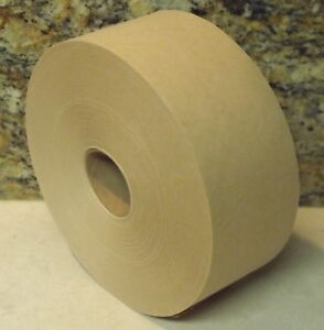 """1 Roll - 3"""" x 600 Feet -  Water Activated TAN KRAFT PAPER TAPE"""