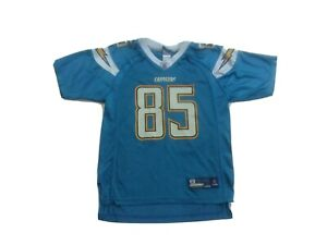 Reebok Equipment NFL Antonio Gates #85 Chargers Blue Jersey size Youth L 14-16