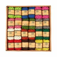 24-Roll 11 Yards Natural Jute Rope Cord Twine String Crafts DIY, Assorted Colors