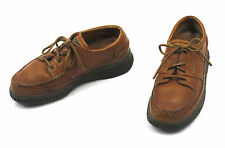 ECCO Walker Oxford 40 6-6.5 Brown Leather Water Repellent Walking Lace Mens Shoe
