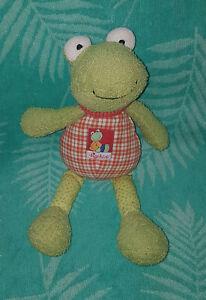 sigikid Frosch Flip Flap Frog 47574 Schlenkerfigur schlenkernd rar Karo Muster