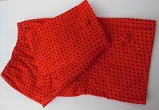 Ancienne paire de manchettes vintage en coton à pois, mercerie - couture