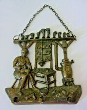 Vintage metal key rack antique cobblers bench finely detailed hanging chain!
