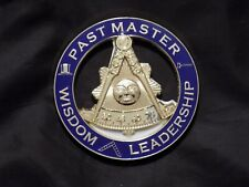 "Masonic 3"" Car Emblem Past Master without Square Gavel Top Hat Metal NEW!"