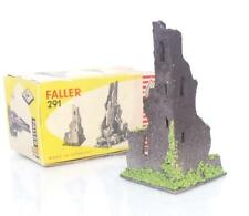 EARLY BOXED VINTAGE WOOD FALLER 291 - HO/OO - OLD CASTLE TOWER RUIN