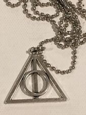 DEATHLY HALLOWS NECKLACE Harry Potter Hogwarts Wizard Sirius Death Large Chain