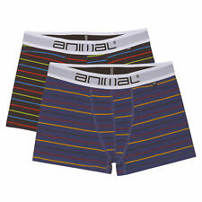 Animal Allview 2 Pack Mens Striped Boxer Shorts