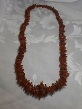 "GENUINE VINTAGE COGNAC BALTIC AMBER 28"" NECKLACE 87 GRAMS"