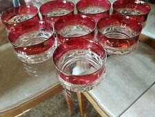 8 Indiana Glass Kings Crown Ruby Cranberry Bowls