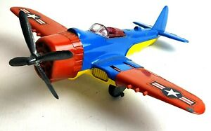 Vintage Diecast Hubley Kiddie Toy Red Blue Stars & Stripes  Airplane 495