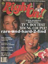 RIGHT ON JUNE 1987 CURTIS BALDWIN & REGINA KING Rare Vintage Magazine