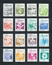 NICARAGUA _ 1983 'FLOWERS' SET of 16 _ used ____(644)