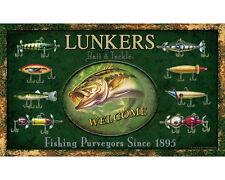 """RIVERS EDGE - """"LUNKERS BAIT & TACKLE WELCOME"""" DOOR MAT"""