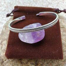 Jonc Bracelet fin Viking Revêtement Argent Massif 925 Celtique Fait Main