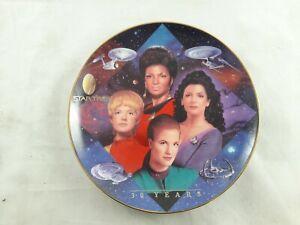 Star Trek 30 years Women of Starfleet  Hamilton Collection *PROOF* Plate no COA