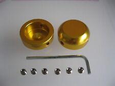 1 x Pair of Gold Savage Handlebar Bar End Plugs Alloy 22.2mm For MTB & BMX Bars