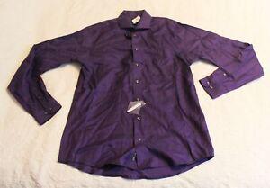 Pronto Uomo Men's L/S Non-Iron Dress Shirt SV3 Purple Size 16.5 38/39 Tall NWT