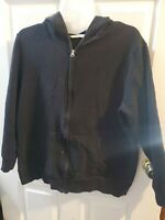 Old Navy. Womans Zip Up Hoodie. Black. With Pockets