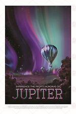 SPACE TOURISM SCIENCE TRAVEL JUPITER JOVIAN AURORAS BALLOON POSTER PRINT LF1805