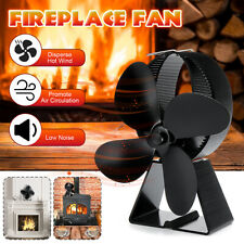8.2'' 1500RPM Fireplace Thermal Fire Heater Power Wood Stove Fan Safe