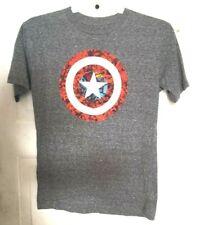 MARVEL CAPTAIN AMERICA T-Shirt Grey Short Sleeves Men's Size Medium Short Sleeve