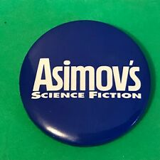 Vintage ASHIMOV'S SCIENCE FICTION Pin Pinback Button 1970s RARE!