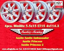 4 Cerchi Austin Healey Minilite 5.5x15 4x114.3 Wheels Felgen Llantas Jantes