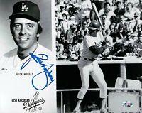 Rick Monday Signed 8X10 Photo Autograph Los Angeles Dodgers Team Card Auto COA