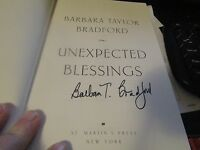 Unexpected Blessings 5 by Barbara Taylor Bradford (2005, Hardcover) AUTOGRAPHED