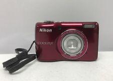 Super Nice Nikon COOLPIX L26 16.1MP Red Digital Camera  !!!
