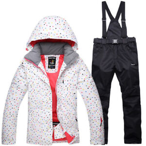 Winter Women Girls Ski Snow Snowboard Jacket Coat Pants Waterproof Snowsuits set