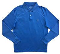VINEYARD VINES Mens Long Sleeve Slim Fit Performance Polo Shirt Blue NWT MEDIUM