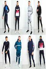 justyouroutfit mens slim fit two tone tracksuit active wear sets