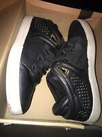 Osiris D3V Mens Shoes Mid Gold White Black Leather Skateboard Sneakers Size 10