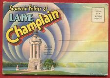 Lake Champlain New York ny Bow & Arrow Point Rock Dunder postcard folder