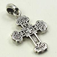 925 Sterlingsilber Silber Anhänger Kreuz Christen Jesus Kirche Cross