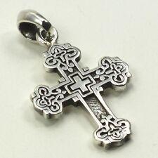 925 Sterlingsilber Silber Kette Kettenanhänger Kreuz massiv Unisex Echtschmuck