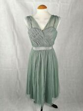 Ladies Dress Size 8 PHASE EIGHT Pale Green Mesh Fit And Flare Party Wedding