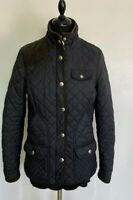 Joules Calverley Womens  Classic Quilted coat Jacket Black, Size 10