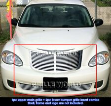 For 2006-2010 Chrysler PT Cruiser Perimeter CNC Cut Grille Grill Combo Insert