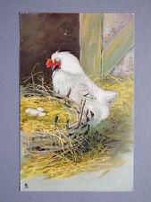 R&L Postcard: Raphael Tuck Art Series 6865, 1907, Hen, Eggs, Agricultural