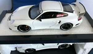 TechArt Porsche 911 Turbo in White by HOTWORKS Very Rare 1:18 scale